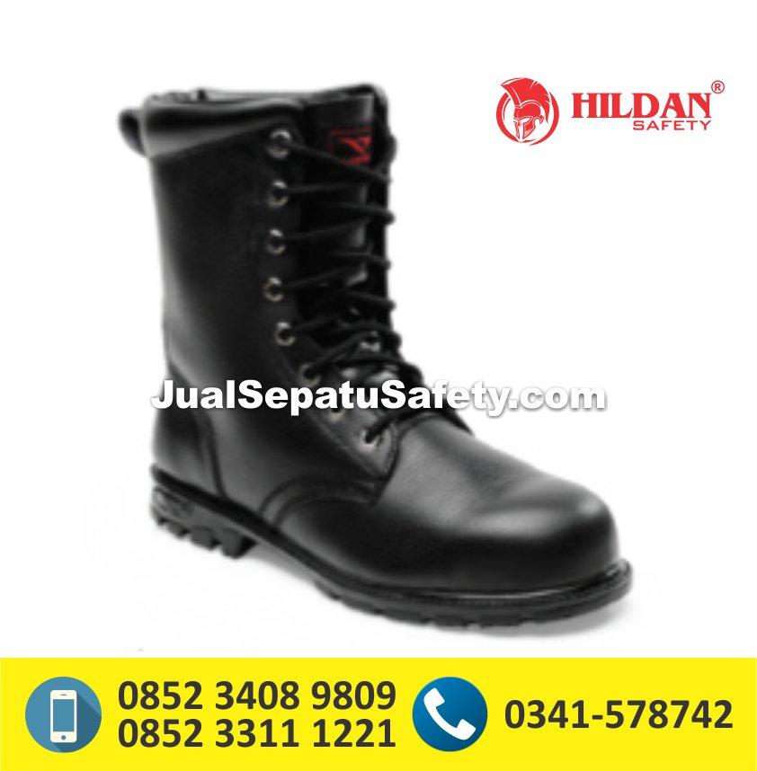Sepatu Safety Shoes CHEETAH 2286 Boot Bertali PDL Nitrile Rubber