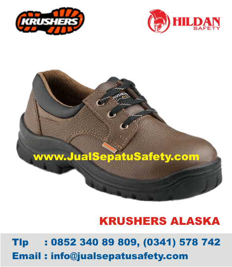 Jual Safety Shoes Krushers ALASKA Brown Coklat