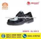KJ 404 X, Sepatu KINGS Pendek Bertali Warna Hitam