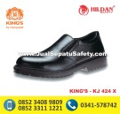 KJ 424 X, KINGS Safety Shoes Pendek Tanpa Tali Slip On Kulit