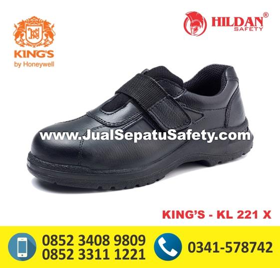 KING'S KL 221 X,Sepatu Safety Wanita Berperekat Tanpa Tali