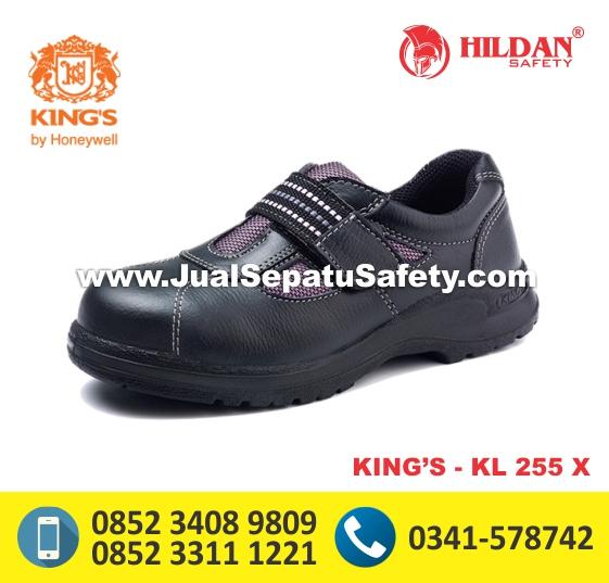 KING'S KL 225 X, Sepatu Safety Pendek Cewek Wanita Tanpa Tali