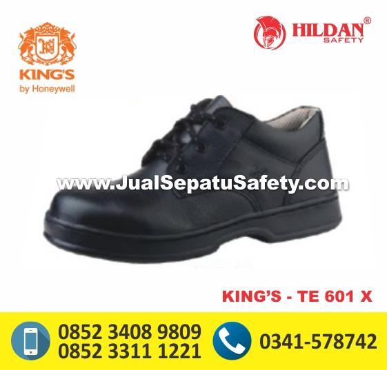 KING'S TE 601 X,Jual Online Safety Shoes Bertali Warna Hitam