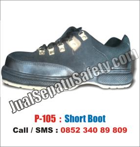 P 105 Jual Sepatu Safety Pendek Bertali MURAH Kulit Suede