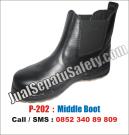 P-202 Sepatu Safety KINGS Look Harga TERMURAH Elastis Samping