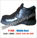 P-204 Sepatu Safety Shoes GROSIR Untuk Pekerjaan Maintenance Listrik PLN Gedung Telkom