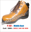 P-207 Sepatu Safety Shoes MURAH Untuk SPBE Warehouse Forklift