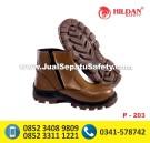 P-203 Sepatu Safety Semi BOOTS Untuk Proyek Jalan Aspal, Pabrik Pig Iron, Pengecoran Bangunan