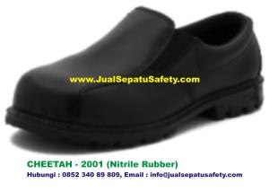 Sepatu Safety Shoes CHEETAH 2001 Pendek Tanpa Tali Nitrile Rubber