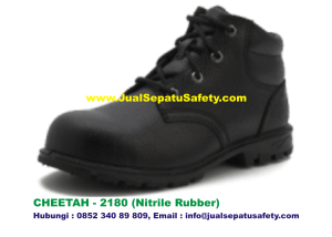 Sepatu Safety Shoes CHEETAH 2180 Semi Boot Bertali Nitrile Rubber