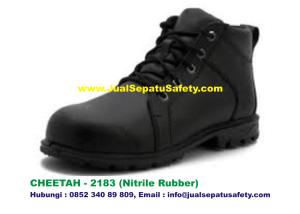 Sepatu Safety Shoes CHEETAH 2183 Semi Boot Bertali Nitrile Rubber