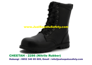 Sepatu Safety Shoes CHEETAH 2286 Boot Bertali PDL Nitrile Rubber