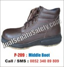 P-209 Safety Shoes Casual Kulit Asli Keren