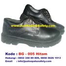 BG-005 HITAM, Safety Shoes Pendek Bertali Harga PABRIK Murah Banget