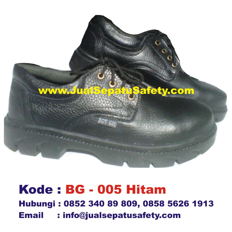 BG-005 HITAM, Sepatu Safety BOY GIE Grosir Murah, HP.0852 340 89 809