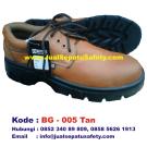 BG-005 TAN, Pusat Sepatu Safety Pendek Kulit Asli Bertali Probolinggo
