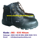 BG-035 HITAM, Grosir Sepatu Safety Untuk Pekerja Pabrik Makanan Minuman