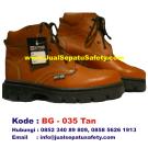 BG-035 TAN, Sepatu Safety Grosiran Warna Coklat Muda Tinggi Semata Kaki