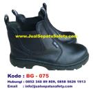 BG-075, Safety Sepatu Semi Boot dengan Karet Elastic Harga Pabrik