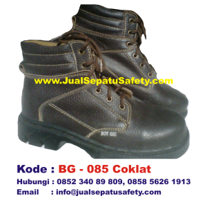 BG-085 COKLAT, Safety Shoes BOY GIE Semi Boot Bertali Grosir Jakarta, HP.0852 340 89 809