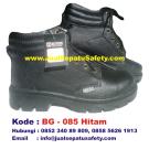 BG-085 HITAM, Supplier Sepatu BOY GIE Safety Semata Kaki Harga GROSIR