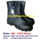 BG-1919 HITAM, Penjual Safety Boot Kulit Pertambangan
