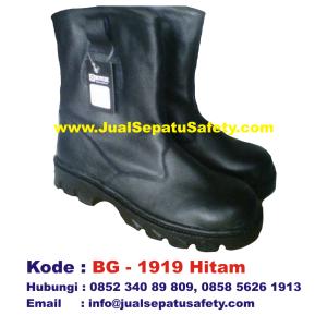 BG-1919 HITAM, Sepatu Safety Boot BOY GIE Grosir Murah, HP.0852 340 89 809