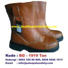 BG-1919 TAN, Grosir Safety Boot Kulit Harga Murah