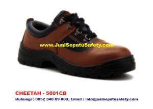CHEETAH 5001CB Sepatu Safety Shoes Pendek Bertali Coklat Muda, HP.0852 340 89 809