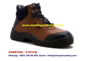 CHEETAH 5101CB Sepatu Safety Shoes Coklat Muda, HP.0852 340 89 809