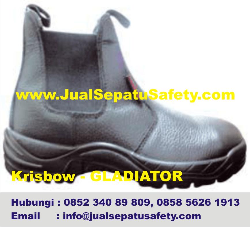 Krisbow Gladiator-Jual Safety Shoes K3 Elastis Tanpa Tali,HP.0852 340 89 809