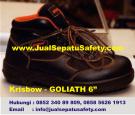 Krisbow Goliath 6″ (6 inch)-Sepatu Semi Boot Safety Bertali