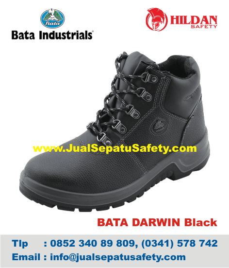 Distributor Sepatu Safety Shoes BATA-DARWIN Black