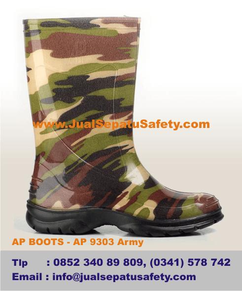 Gambar Sepatu AP BOOTS Anak- AP 9303 Army