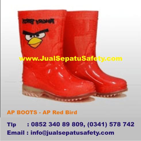 Jual Sepatu AP BOOTS Anak di Malang - AP Red Angry Bird Merah