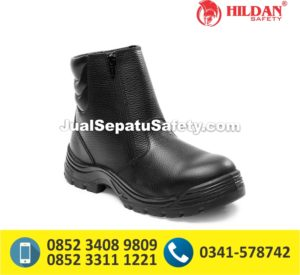 Sepatu Safety Shoes CHEETAH 3111 Semi Boot Zipper Resleting