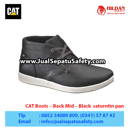 CAT Boots – Beck Mid – Black saturntin pan1