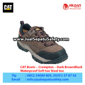 CAT Boots – Crompton – Dark BrownBlack – Waterproof Soft toe Steel toe