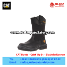 CAT Boots Grist WP ST Black – Sepatu Caterpillar