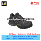 CAT Boots Kaufman ST Black – Sepatu Caterpillar Murah