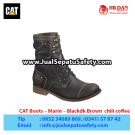 CAT Boots Marin Black/dk Brown – Sepatu Caterpillar Murah