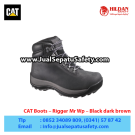 CAT Boots Rigger Mr Wp BlackCAT Footwear – Sepatu Caterpillar Murah