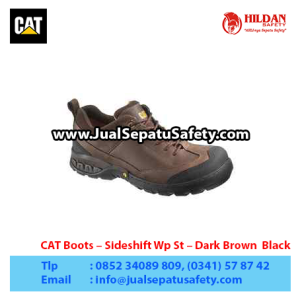 CAT Boots – Sideshift Wp St – Dark Brown  Black1