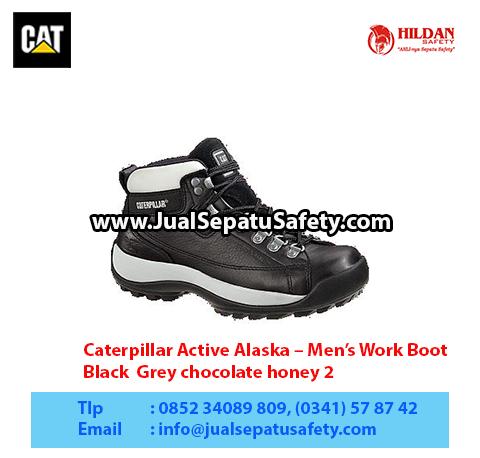 Caterpillar Active Alaska – Men's Work Boot – Black Grey chocolate honey 21
