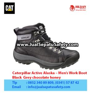 Caterpillar Active Alaska – Men's Work Boot – Black  Grey chocolate honey1