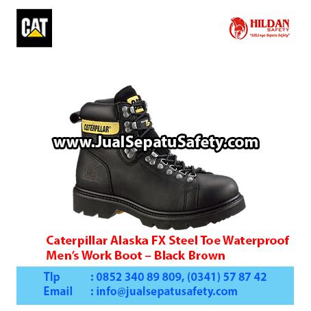 Caterpillar Alaska FX Steel Toe Waterproof – Men's Work Boot – Black Brown1