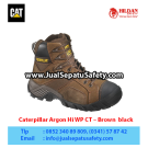 Caterpillar Argon Hi Wp Ct Mens Dark Brown – Sepatu Caterpillar Murah