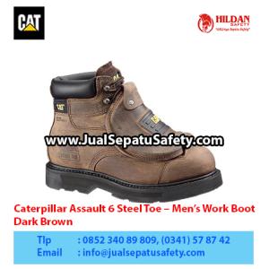 Caterpillar Assault 6″ Steel Toe – Men's Work Boot – Dark Brown1