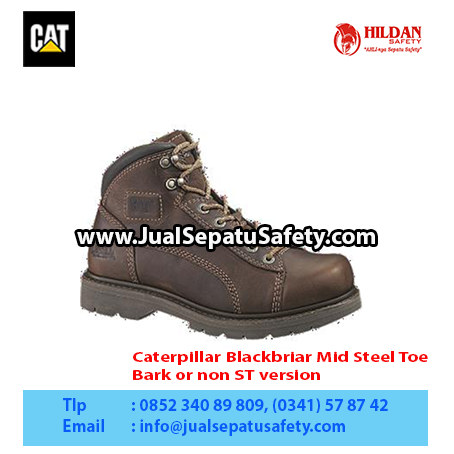 Caterpillar Blackbriar Mid Steel Toe – Men's Work Boot – Bark or non ST version