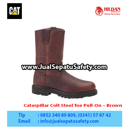 Caterpillar Colt Steel Toe Pull-On – Brown1